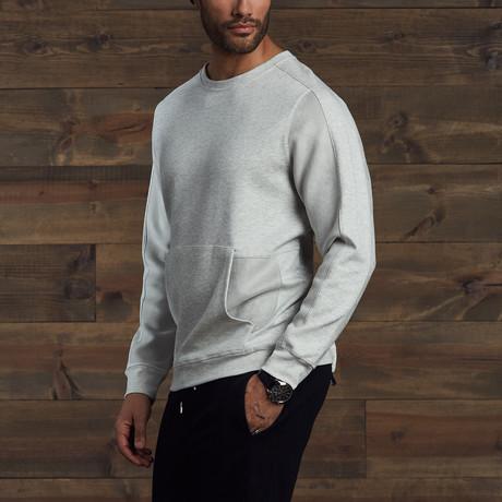Caleb Suede Tunic Sweatshirt // Grey (S)