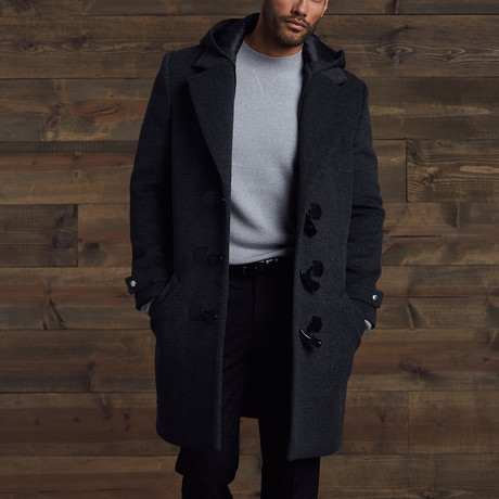 Brent Wool Duffle Coat // Gray (S)