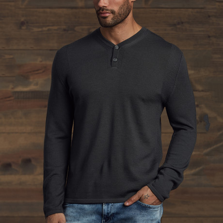 Zane 2-Button Henley // Gray (S)