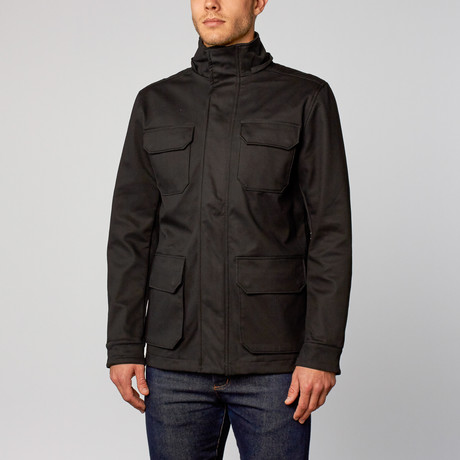 One Man Stratus Rain Jacket // Black (S)