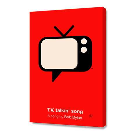 "Tv Talkin' Song (Stretched Canvas // 16""W x 24""H x 1.5""D)"