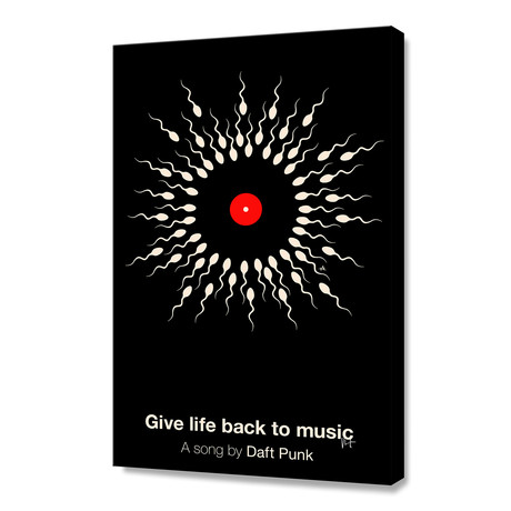 "Give Life Back To Music (Stretched Canvas // 16""W x 24""H x 1.5""D)"