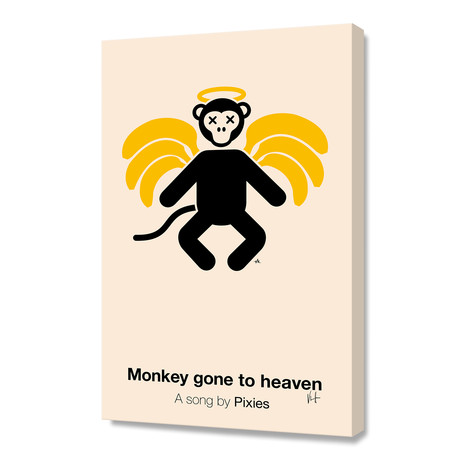 "Monkey Gone To Heaven (Stretched Canvas // 16""W x 24""H x 1.5""D)"