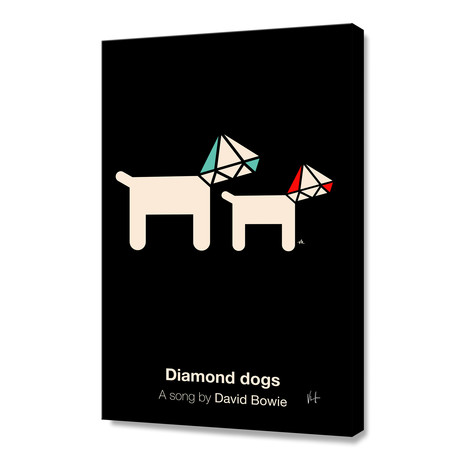 "Diamond Dogs (Stretched Canvas // 16""W x 24""H x 1.5""D)"