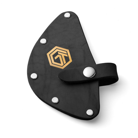 Black Leather Sheath For Hammer Axe + Fire Rescue Tool