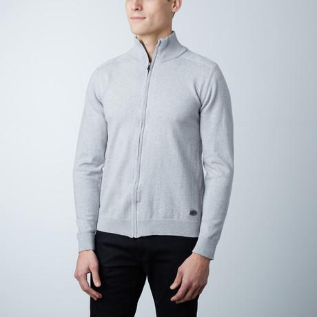 Brody Knit Zipper Sweater // Grey (S)