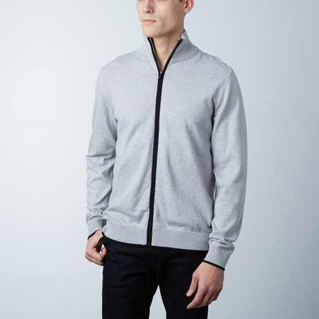 Cole Two Tone Zipper Jacket // Grey (S)