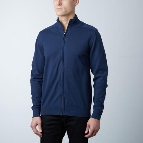 Brody Knit Zipper Sweater // Navy (S)