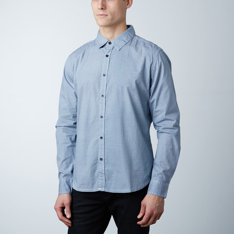 Carter Cotton Button Down Shirt // Navy (S)