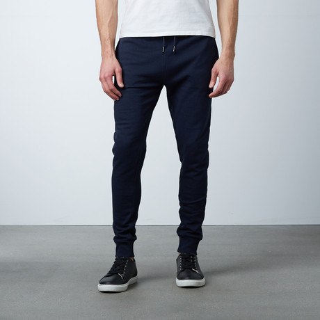 James Cuffed Sweat Pant // Navy (S)
