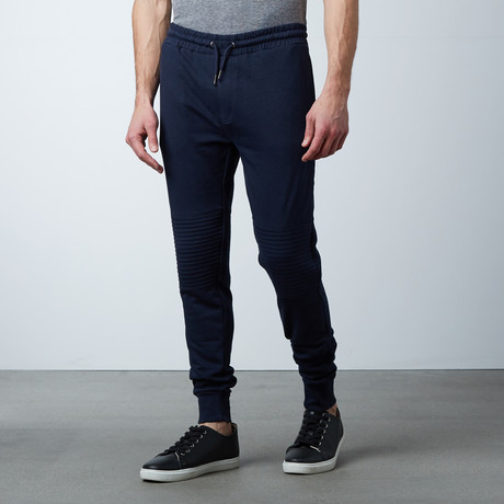 Tristan Cuffed Sweat Pant // Navy (S)