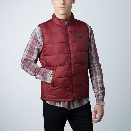Noah Lightweight Sleeveless Puffer Vest // Burgundy (S)