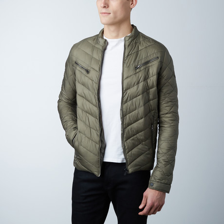 Aiden Lightweight Puffer Jacket // Olive (S)