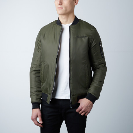 Tyler Lightweight Bomber Jacket // Olive (S)
