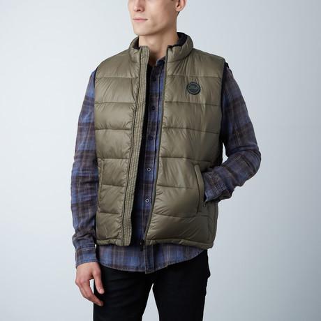 Noah Lightweight Sleeveless Puffer Vest // Olive (S)