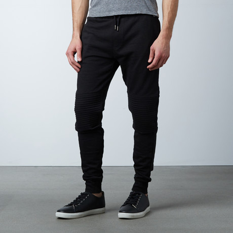 Tristan Cuffed Sweat Pant // Black (S)