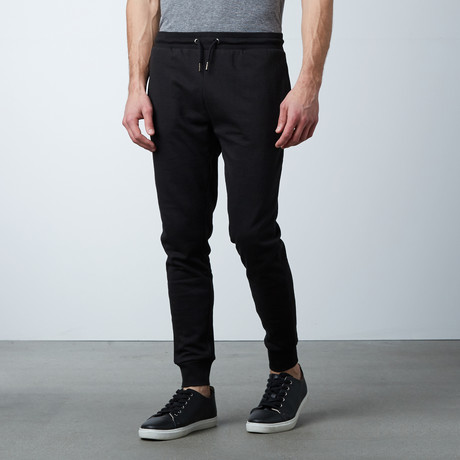 James Cuffed Sweat Pant // Black (S)