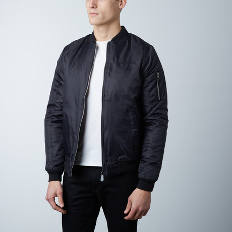 Tyler Lightweight Bomber Jacket // Black (S)