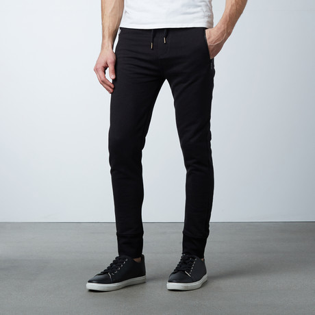 Michah Cuffed Sweat Pant // Black (S)