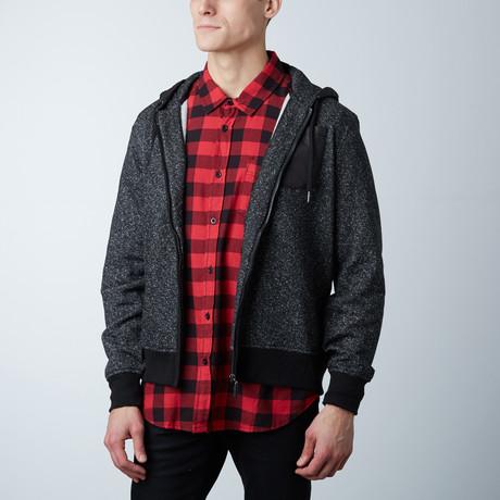Miles Fantasy Fleece Zipper Jacket // Black (S)