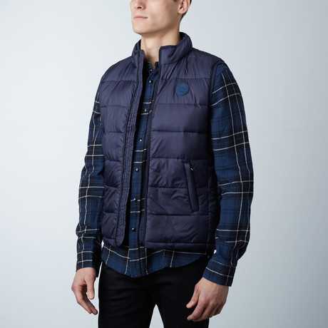 Noah Lightweight Sleeveless Puffer Vest // Navy (S)