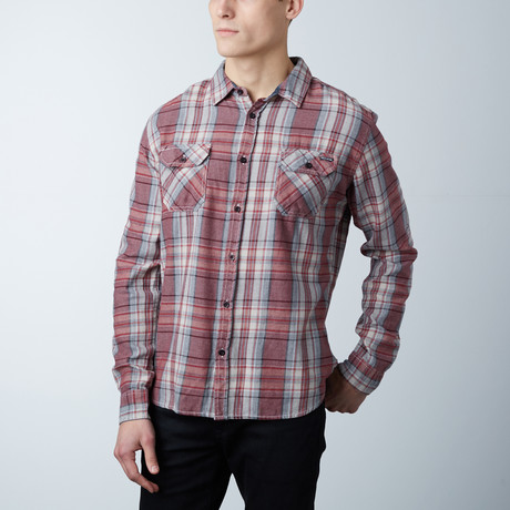 Mason Flannel Button Down Shirt // Burgundy (S)