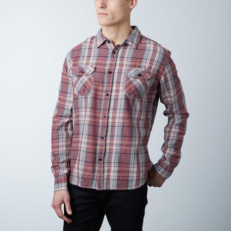 Mason Flannel Button Down Shirt // Burgundy (S)