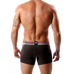 Aeronautica Cotton Trunk // Black + Orange (M)