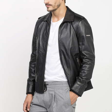 Quen Leather Jacket // Black (S)