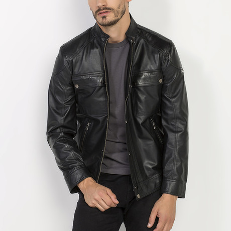 Masky Leather Jacket // Black (S)