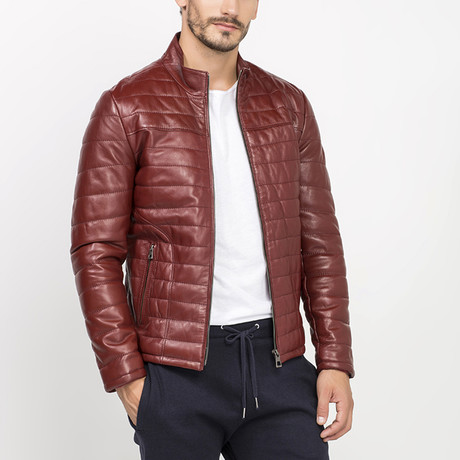 Altma Leather Jacket // Bordeaux (S)