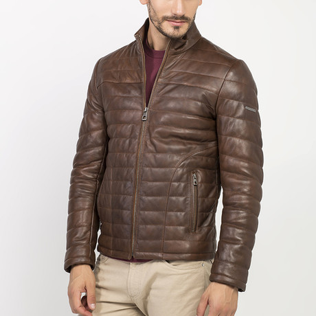 Altma Leather Jacket // Brown (S)
