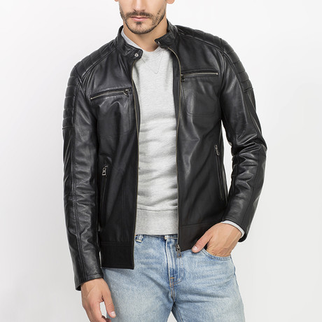 Elles Leather Jacket // Black (S)
