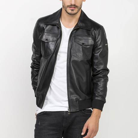 Armes Leather Jacket // Black (S)