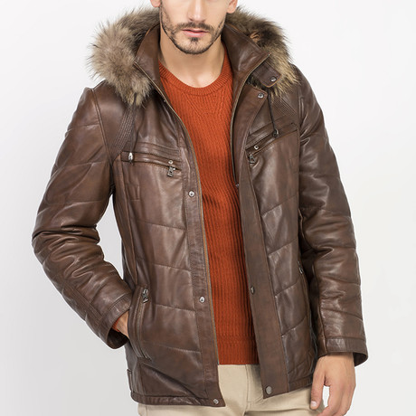 Orris Leather Jacket // Brown (S)