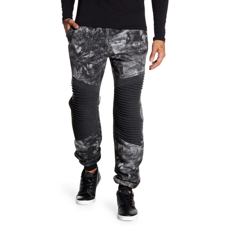 Fleece Tie-Dye Pant // Black (S)