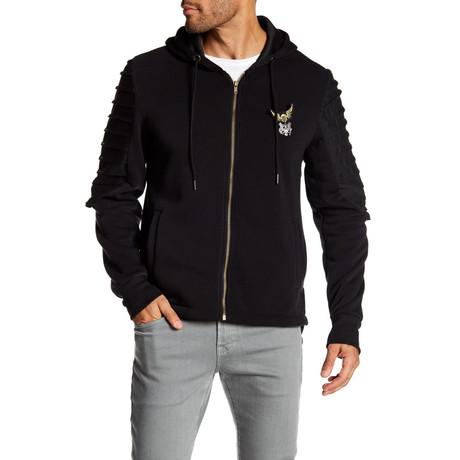 Fleece Jacket + Gold Zipper // Black