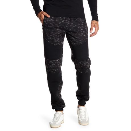 Fleece Heathered Pant // Black