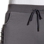 Fleece Pleated Thigh Pant // Dark Gray (S)