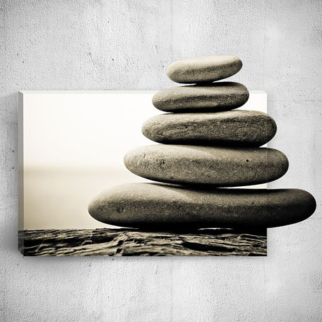Five Stones // Mostic 3D Wrapped Canvas + Decal