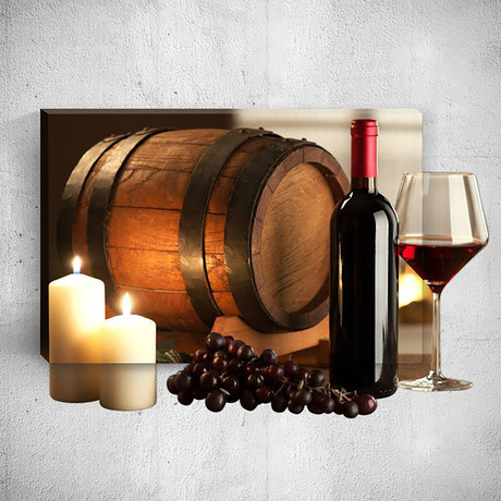 Wine Grape Candle // Mostic 3D Wrapped Canvas + Decal