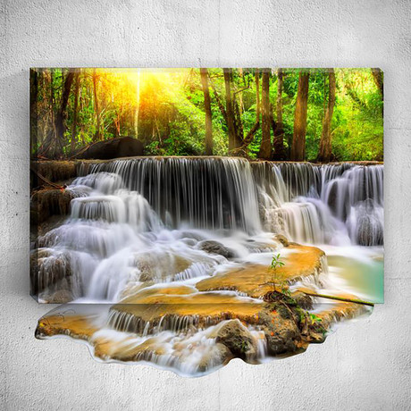 River // Mostic 3D Wrapped Canvas + Decal
