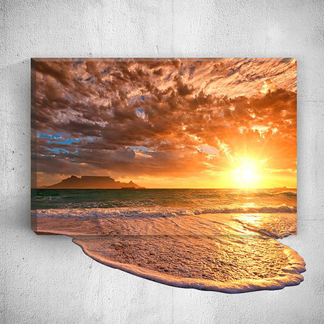 Sun // Mostic 3D Wrapped Canvas + Decal