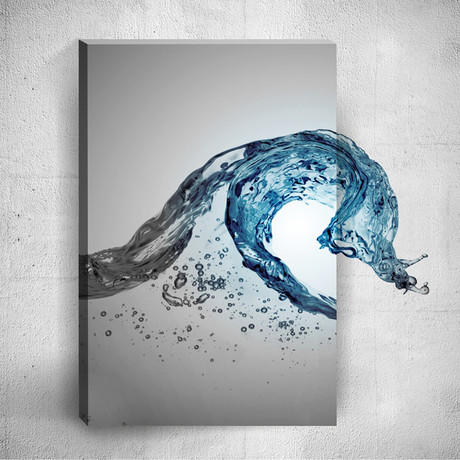 Dance Of Waters // Mostic 3D Wrapped Canvas + Decal