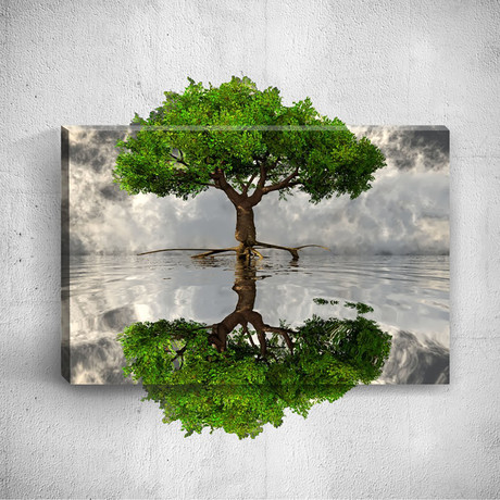 Tree Shade // Mostic 3D Wrapped Canvas + Decal