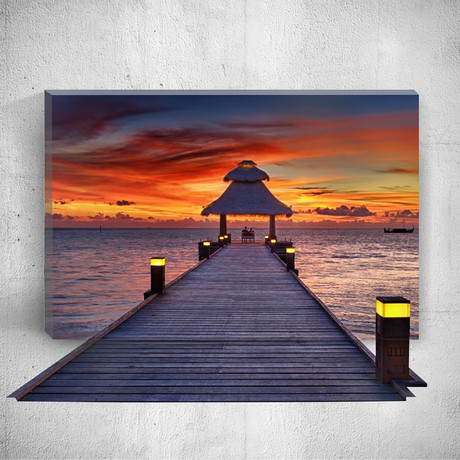 Red Sky // Mostic 3D Wrapped Canvas + Decal