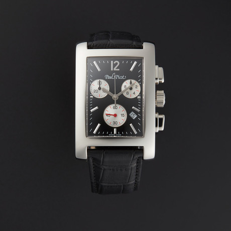 Paul Picot American Bridge Chrono Quartz // P4112.20.362 // Unworn