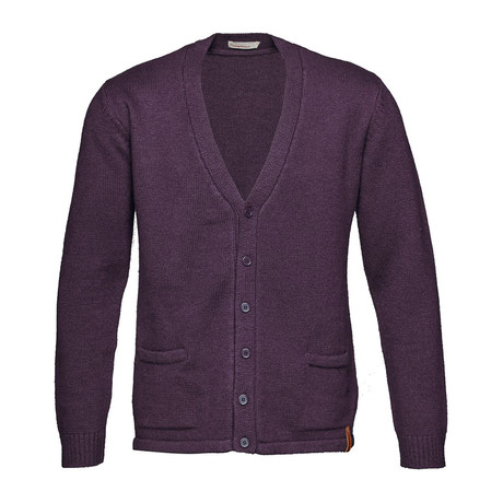 Plain Knit Cardigan // Plum Perfect (S)