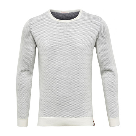 Two Toned Round Neck Knit // Star White (S)