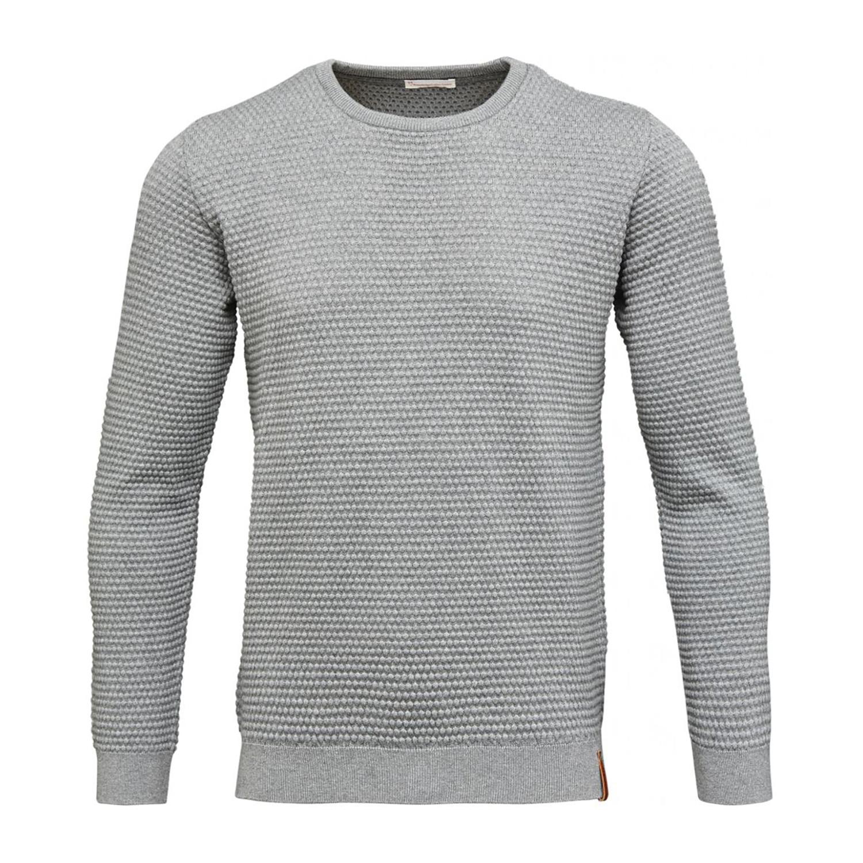 sallor pattern knit grey melange l knowledge cotton apparel touch of modern. Black Bedroom Furniture Sets. Home Design Ideas